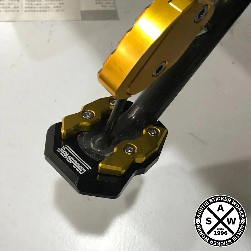Side stand bigfoot accessory