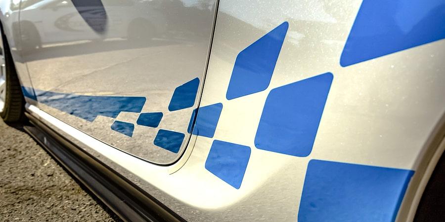 car decal printing blue design
